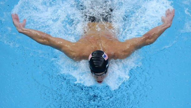 Michael Phelps am Anschlag