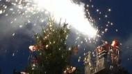 Strampeln für den Weihnachtsbaum