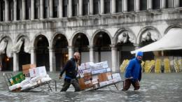 Wieder Hochwasser in Venedig