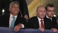 Sportsfreunde: Viktor Orbán und Wladimir Putin beim Judo