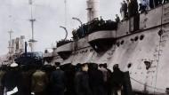 100 Jahre Novemberrevolution: Die Meuterei der Matrosen der deutschen Hochseeflotte in Kiel.