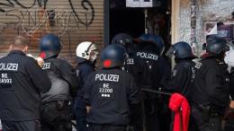 Polizei räumt Szenekneipe in Berlin