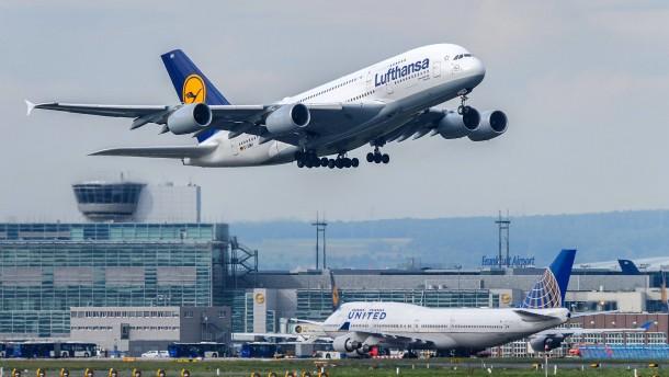 Weniger CO2 am Frankfurt Flughafen
