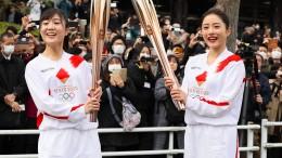 Die olympische Fackel ist unterwegs