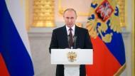 Fordert UN-Sicherheitsratssitzung: Russlands Präsident Wladimir Putin (Archivbild)