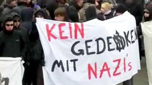 Tausende demonstrieren gegen Neonaziaufmarsch