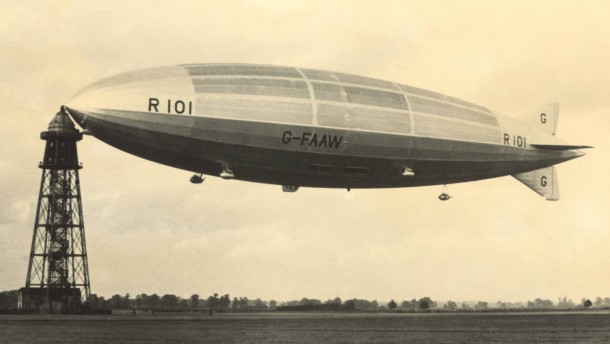 """Warum das englische Luftschiff """"R 101"""" abstürzte"""