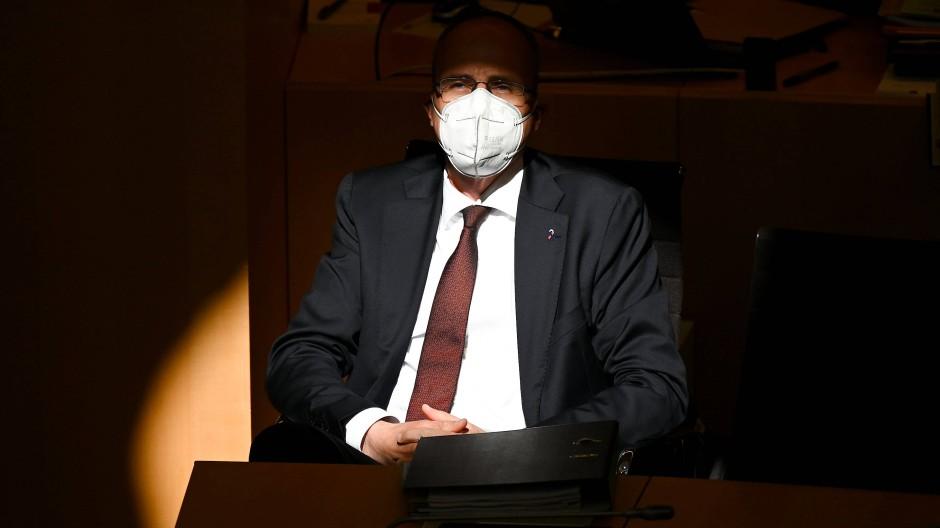 Der hessische Innenminister Peter Beuth (CDU) im April im Wiesbadener Landtag