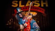 Der darf das, der will nur spielen: Slash, Gitarrist von Guns N'Roses, hier solo unterwegs