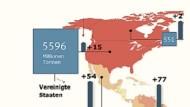 Interaktiv: So viel Kohlendioxid produziert die Welt