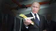 Wladimir Putin und das Gold: Russland zeigt offenbar verstärktes Interesse an dem Edelmetall.