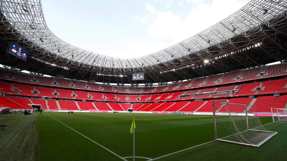 Blick in die noch leere Puskás Arena in Budapest (Archivbild)