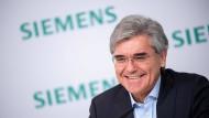 Sein vermutlich letzter Großauftrag als Siemens-Chef: Joe Kaeser.