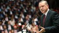 Der türkische Staatspräsident Erdogan