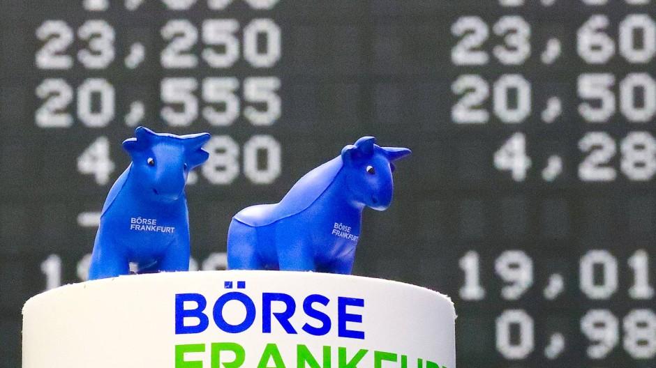 Die Kurstafel der Deutschen Börse in Frankfurt