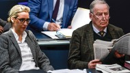 Sehen keinen Verstoß gegen das Gesetz: Die Vorsitzenden der AfD, Alice Weidel und Alexander Gauland.
