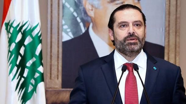 Regierungschef Hariri kündigt Rücktritt an