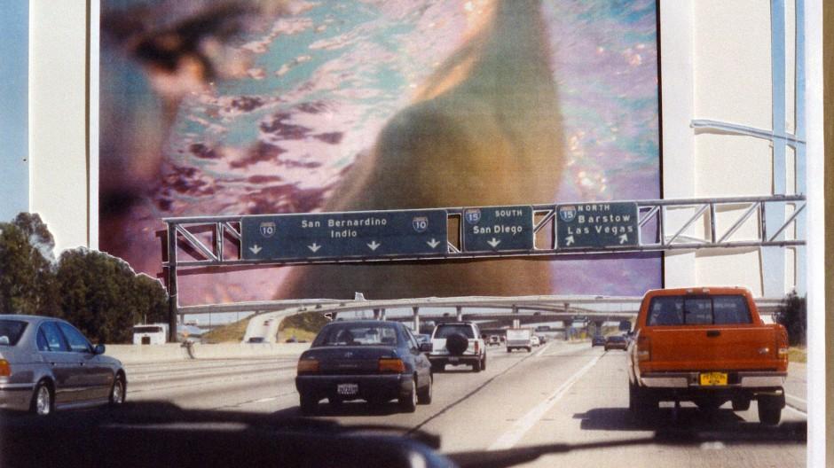 Die Ferne kommt vorbei: Susa Templin, L.A. Highway, Collageanaloge Fotografie (1996) bei Anita Beckers