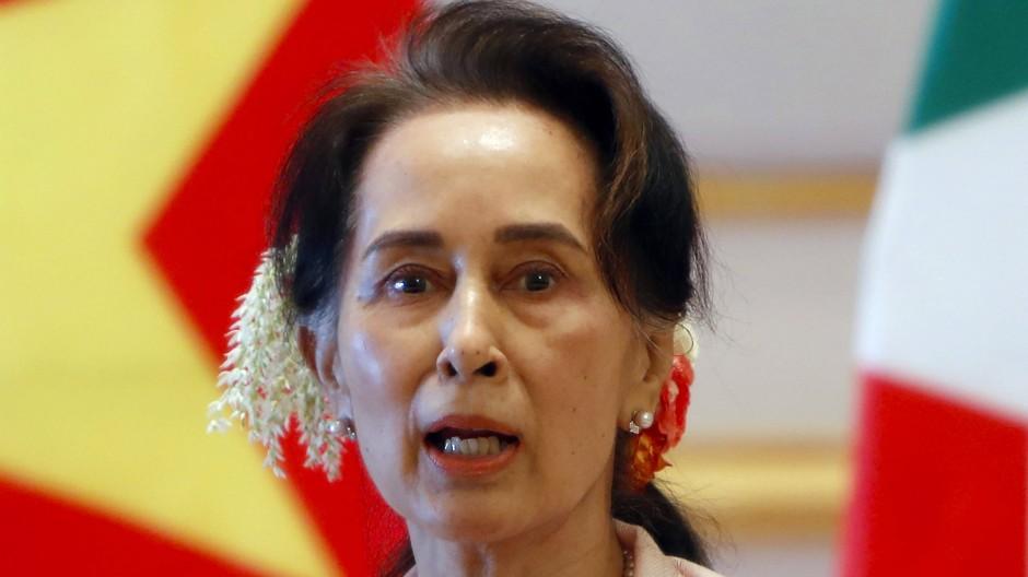 Aung San Suu Kyi im Dezember 2019, als sie vor dem Militärputsch als Staatsrätin fungierte
