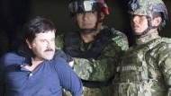 Wieder in Haft: Joaquín Guzmán nach seiner Festnahme durch eine mexikanische Elite-Einheit