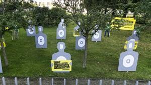Protest gegen deutsche Waffenlieferungen