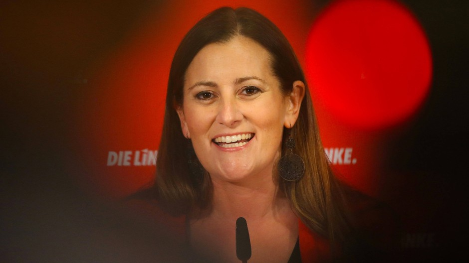 Knapp in den Bundestag eingezogen: Die Linken-Politikerin Janine Wissler