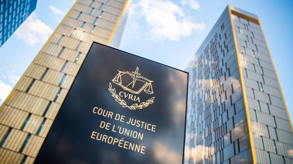 Der Europäische Gerichtshof im Europaviertel auf dem Kirchberg in Luxemburg