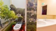 Hotelflair: Im Altbau der Helmholtzschule im Ostend sind die Schultoiletten saniert worden.