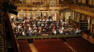 Die Wiener Philharmoniker unter Riccardo Muti bei der Probe