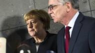 Auseinandersetzung gewünscht: Kanzlerin Angela Merkel und Innenminister Thomas de Maizières