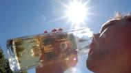 Hitze und Sonne lassen Ozonwerte steigen