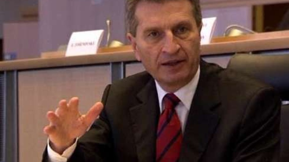 Oettinger beim Vorstellungsgespräch