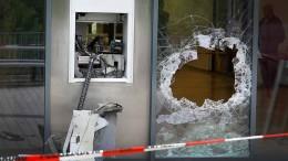 Zahl der gesprengten Geldautomaten bleibt hoch