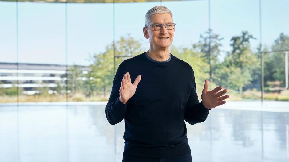 Der Umsatz mit den iPhones verfehlt die Erwartungen. Tim Cook ist trotzdem optimistisch.