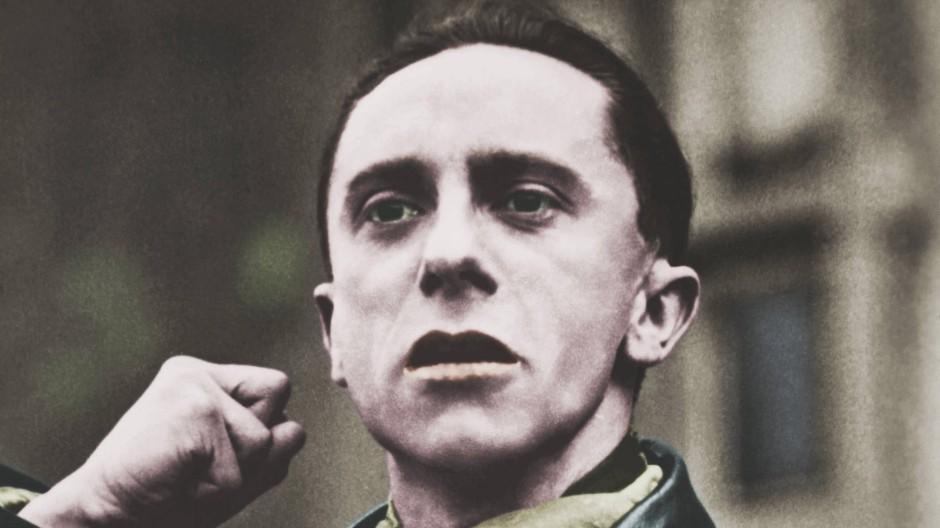 Der NSDAP-Gauleiter Joseph Goebbels 1931 bei einer Rede in Berlin.