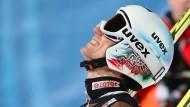 Der polnische Skispringer Kamil Stoch jubelt über seinen Tagessieg und den Gesamtsieg.