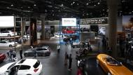 Keine Spur von den Folgen der Dieselaffäre: BMW-Stand auf der IAA in Frankfurt