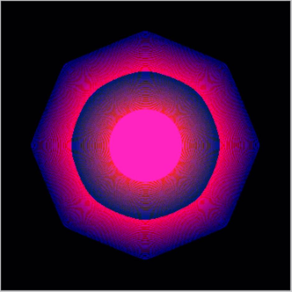 """Pulsierendes Zeichen der Zeit:  Kevin McCoys animierte Grafik """"Quantum"""" gilt als erstes je geschaffenes NFT und trägt den Zeitstempel """"05-03-2014 09:27:34"""". Als Dokument der Blockchain-Historie kommt das Werk Anfang Juni bei Sotheby's zum Aufruf."""