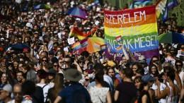 Rekord-Teilnehmerzahl bei Pride-Parade in Ungarn