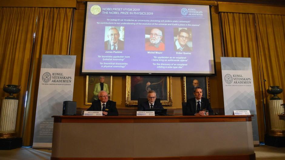 In Stockholm verkündet die Jury die Preisträger.