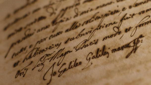Werk von Galileo Galilei verschwunden