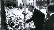 Der Präsident der USA, Woodrow Wilson. Im Dezember 1916 ruft er in einer diplomatischen Note zum Frieden auf.