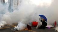 Ungewisse Zukunft: Ein Demonstrant während der Proteste in Hongkong