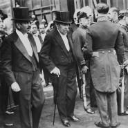Vordenker der EU: Der französische Außenminister Aristide Briand (Mitte) 1931 in Paris.