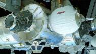 Aufgeblasenes Stück Technik: Das Bigelow Expandable Activity Modul (BEAM) ist ein aufblasbares Wohnmobil für den Weltraum und ein Novum in der Geschichte der Raumfahrt.