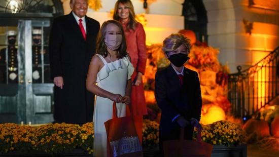 Kleine Doppelgänger überraschen Donald und Melania