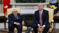 Schatten der Vergangenheit: Henry Kissinger war während der Watergate-Affäre Nixons Sicherheitsberater.