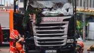 Der Lkw, mit dem ein bislang Unbekannter in den Weihnachtsmarkt in Berlin gerast war.