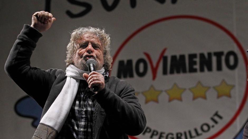 Bitterer Ernst: Der frühere Komiker Beppe Grillo ist Gründer der eurokritischen Fünf-Sterne-Bewegung.