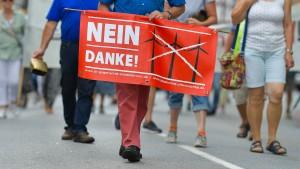 "Demonstranten wollen Odenwald ""retten"""